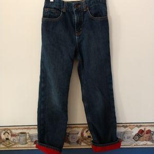 Boys LL Bean Lined Jeans